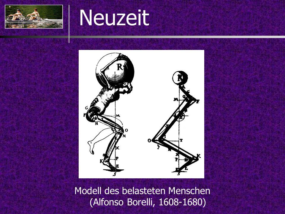 Neuzeit Modell des belasteten Menschen (Alfonso Borelli, 1608-1680)