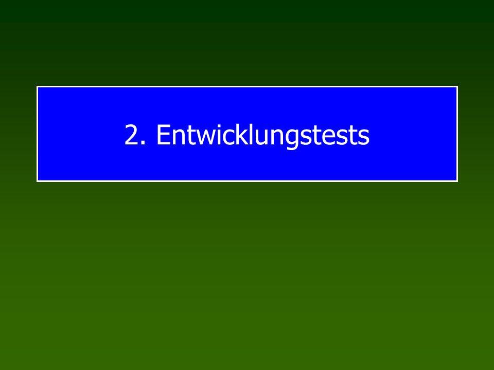 2. Entwicklungstests