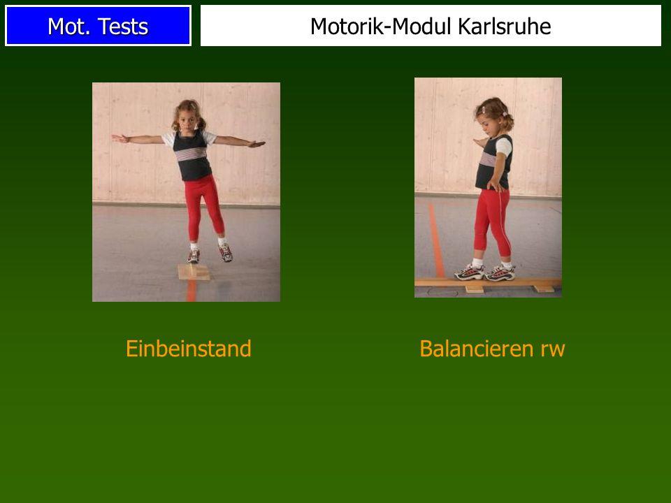 Mot. Tests Motorik-Modul Karlsruhe EinbeinstandBalancieren rw