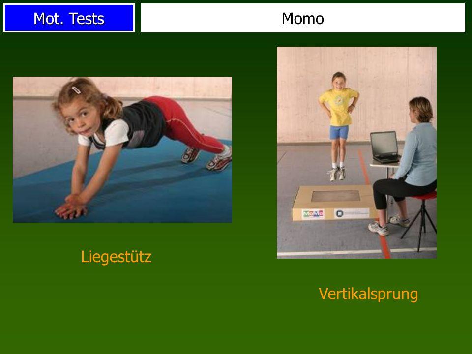 Mot. Tests Momo Liegestütz Vertikalsprung