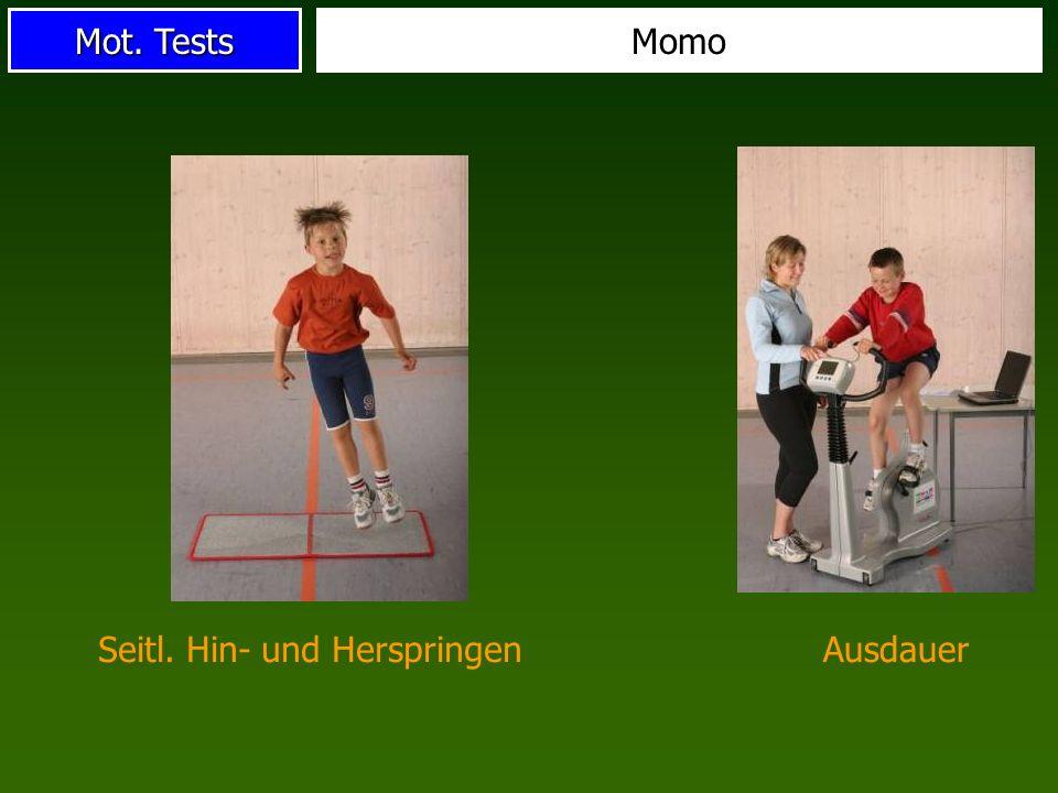 Mot. Tests Momo AusdauerSeitl. Hin- und Herspringen