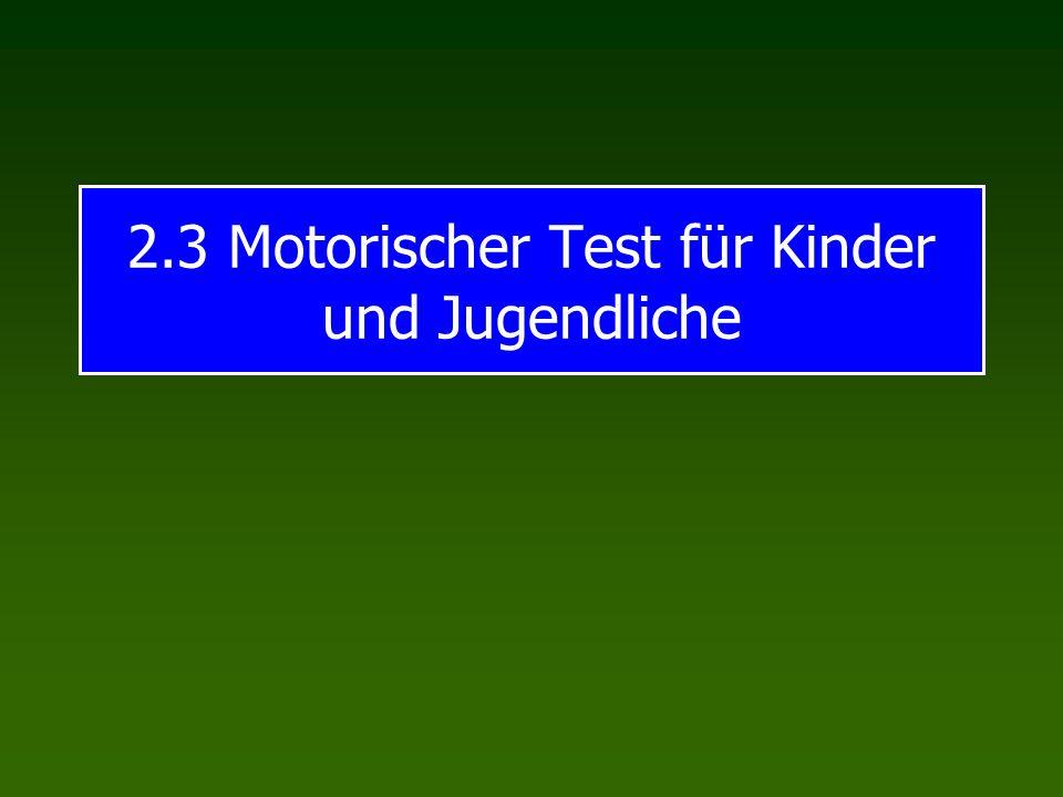 2.3 Motorischer Test für Kinder und Jugendliche