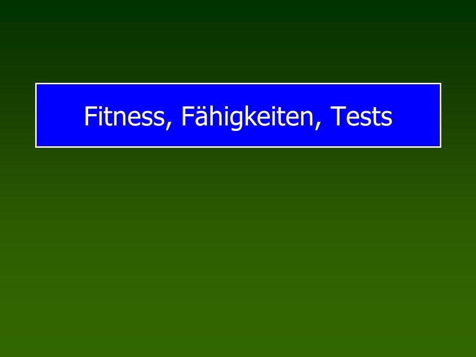 Fitness, Fähigkeiten, Tests