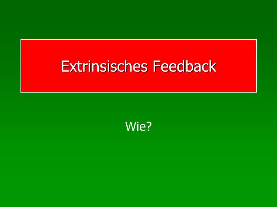 Extrinsisches Feedback Wie?