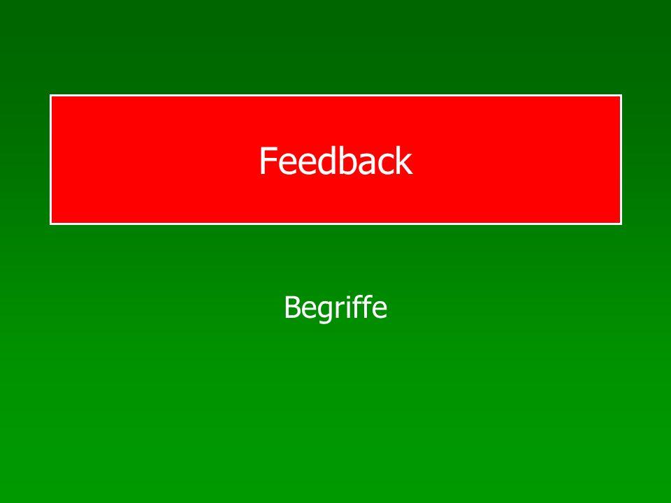 ML: Feedback Terminologie Feedback: Informationen, die der Ausführende während oder nach seiner Bewegung erhält Intrinsisches Feedback: Sensorisches Feedback während oder nach der Ausführung Extrinsisches Feedback: Quellen außerhalb des Übenden, augmented feedback