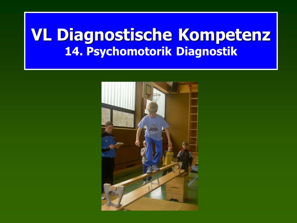 VL Diagnostische Kompetenz VL Diagnostische Kompetenz 14. Psychomotorik Diagnostik
