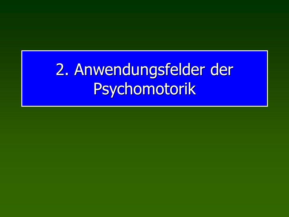 2. Anwendungsfelder der Psychomotorik