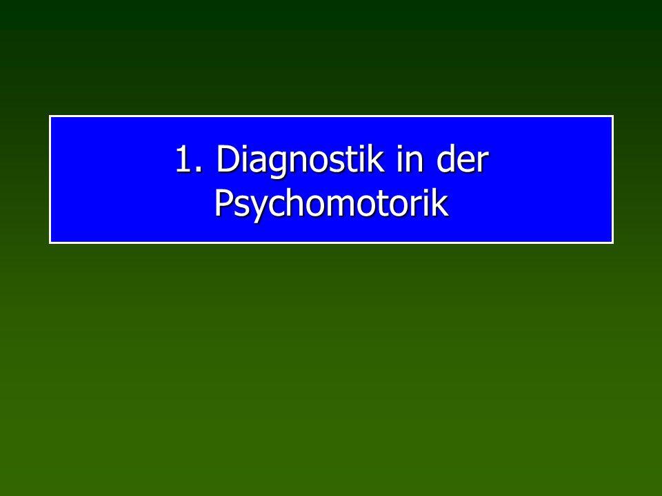 1. Diagnostik in der Psychomotorik