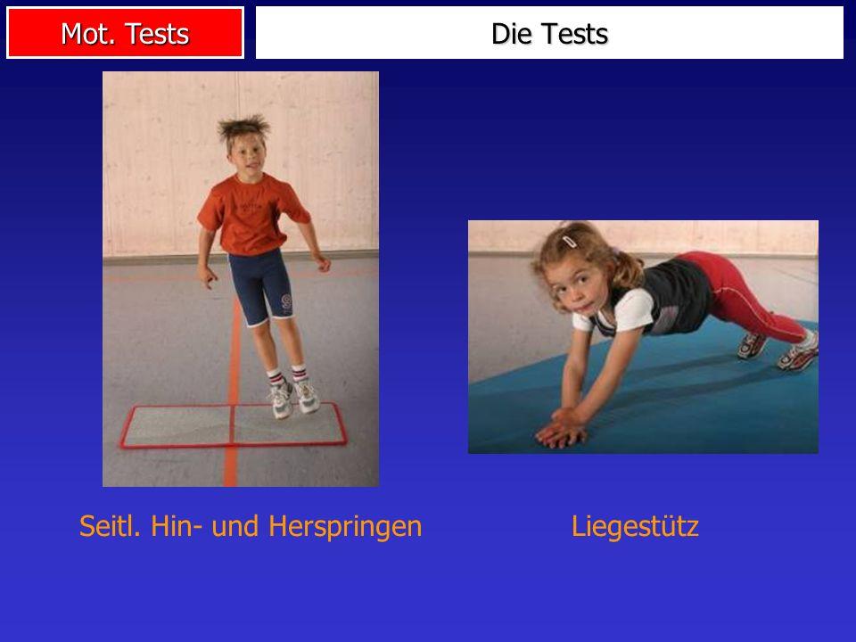 Mot. Tests Die Tests Seitl. Hin- und HerspringenLiegestütz