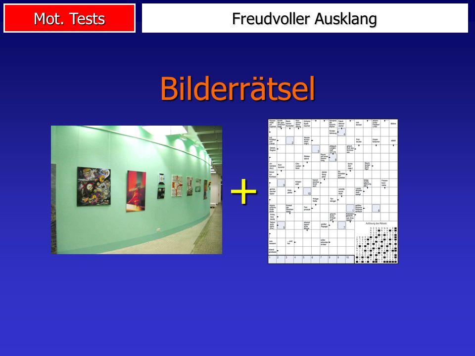 Mot. Tests Freudvoller Ausklang + Bilderrätsel