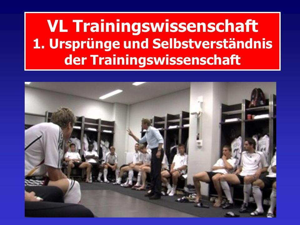 VL Trainingswissenschaft 1. Ursprünge und Selbstverständnis der Trainingswissenschaft