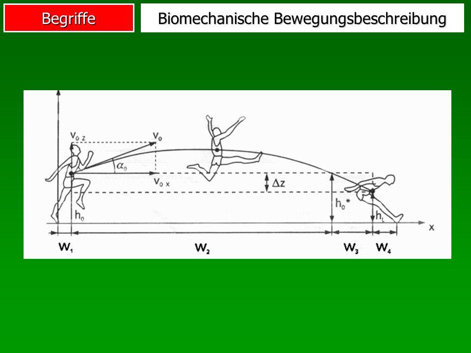 Begriffe Biomechanische Bewegungsbeschreibung