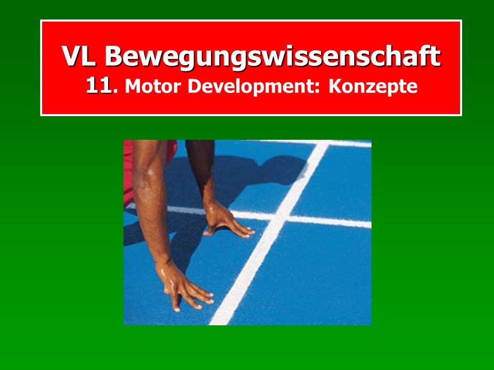 VL Bewegungswissenschaft 11 VL Bewegungswissenschaft 11. Motor Development: Konzepte