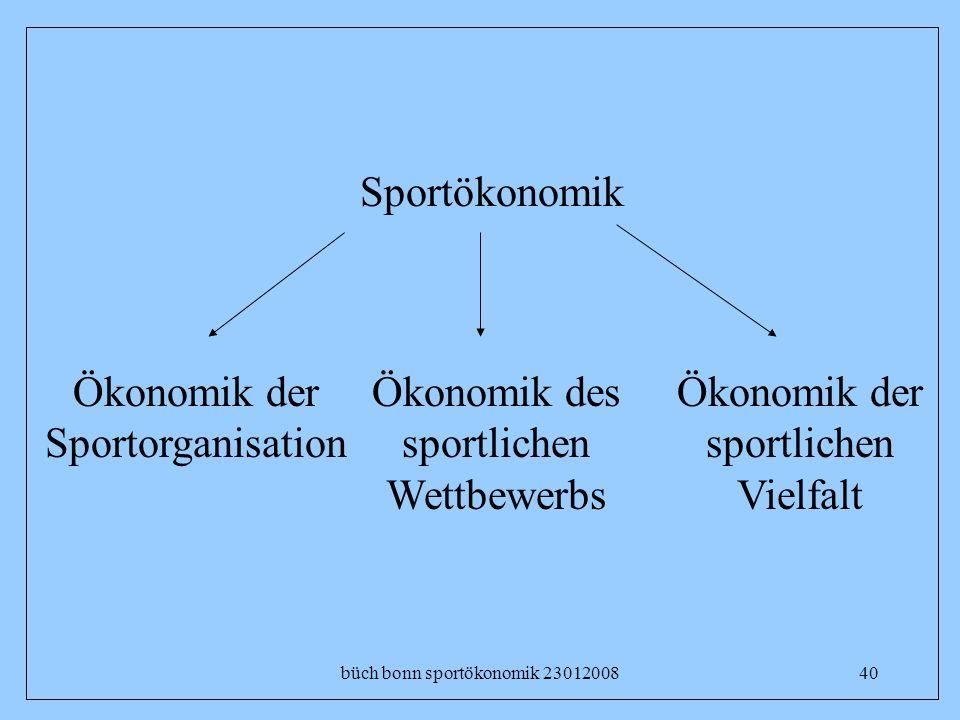 büch bonn sportökonomik 2301200840 Sportökonomik Ökonomik der sportlichen Vielfalt Ökonomik der Sportorganisation Ökonomik des sportlichen Wettbewerbs