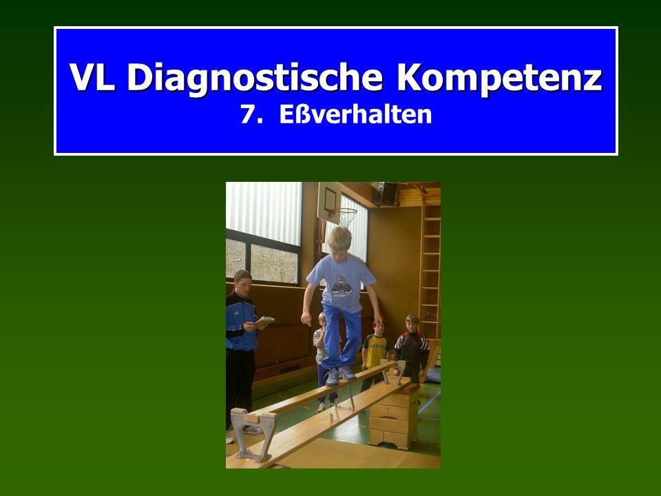 VL Diagnostische Kompetenz VL Diagnostische Kompetenz 7. Eßverhalten