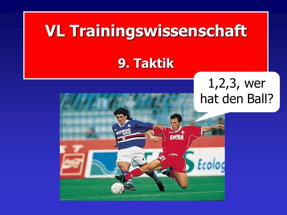 VL Trainingswissenschaft 9. Taktik 1,2,3, wer hat den Ball?