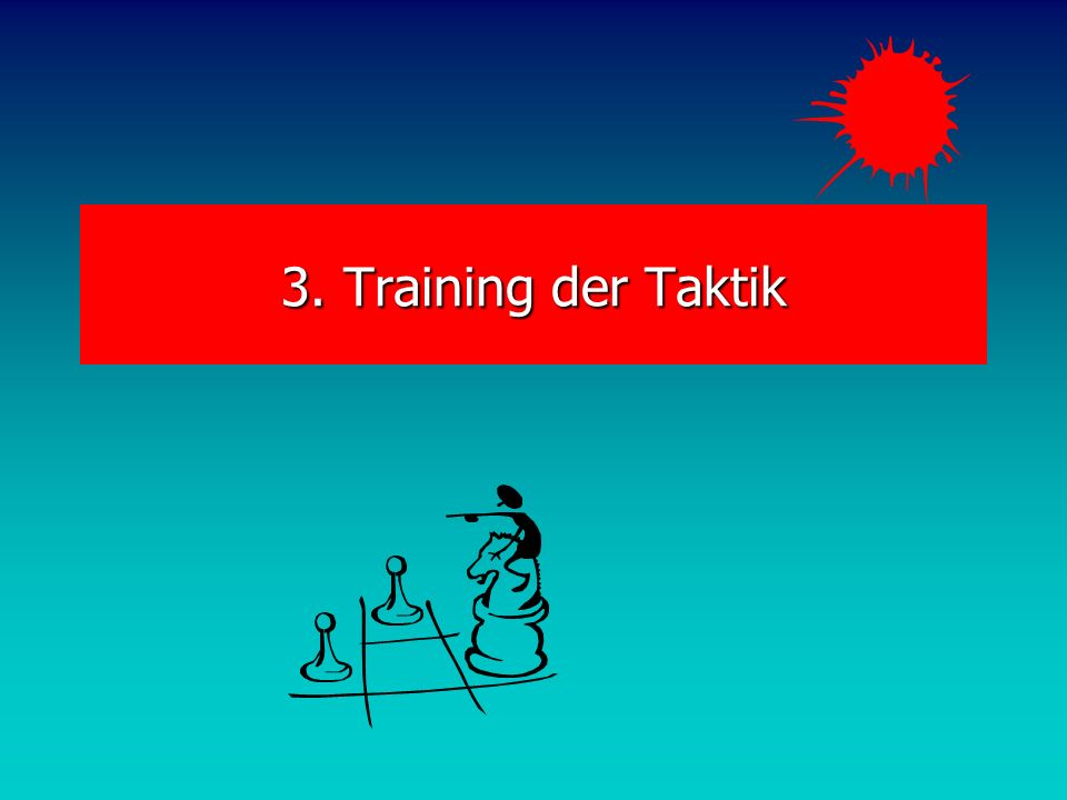 3. Training der Taktik