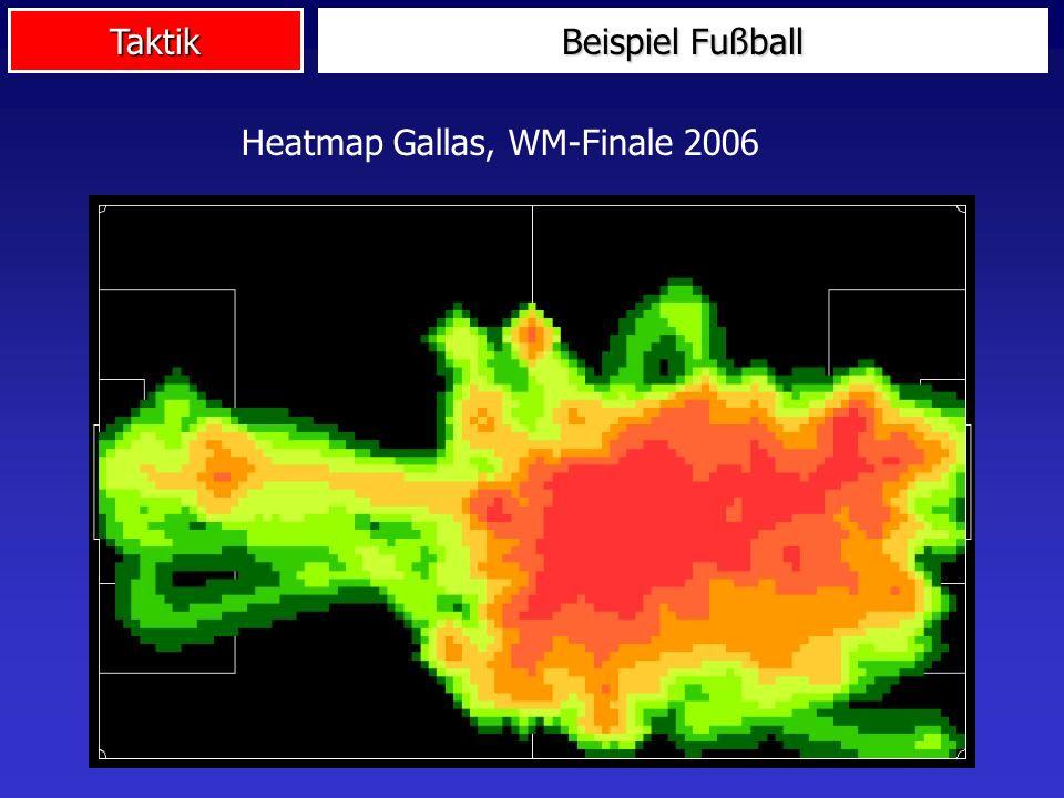Taktik Beispiel Fußball Heatmap Gallas, WM-Finale 2006