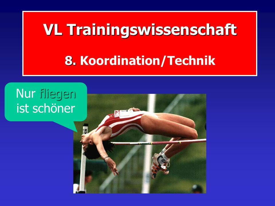 VL Trainingswissenschaft 8. VL Trainingswissenschaft 8. Koordination/Technik fliegen Nur fliegen ist schöner