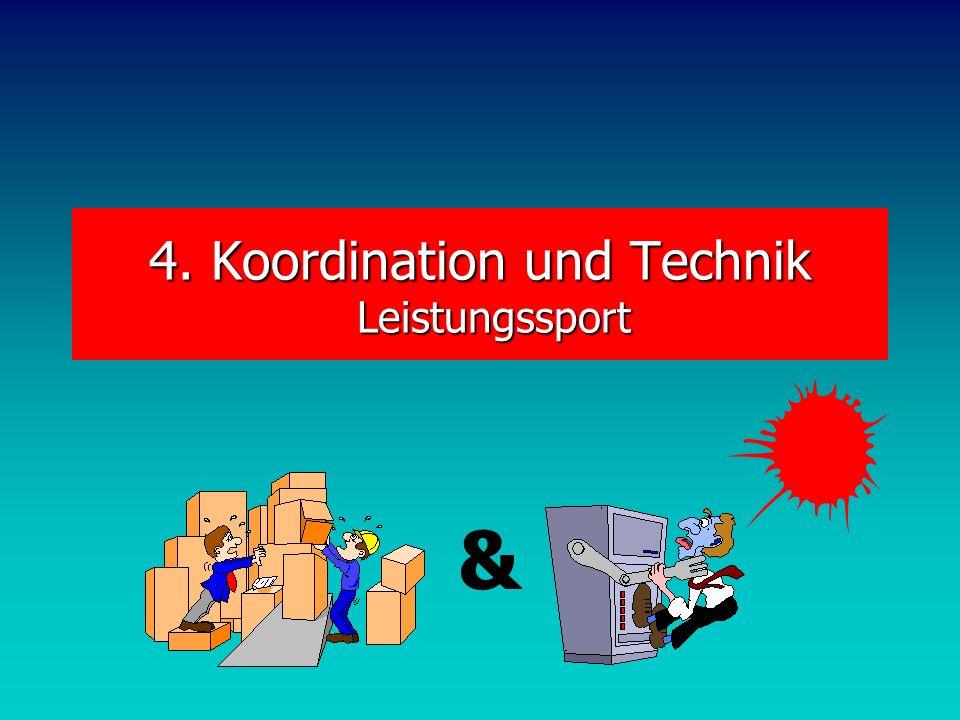 4. Koordination und Technik Leistungssport &