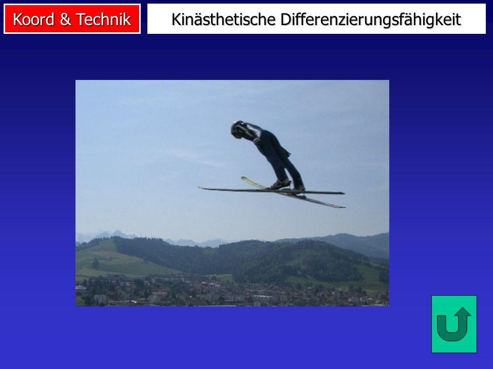 Koord & Technik Kinästhetische Differenzierungsfähigkeit