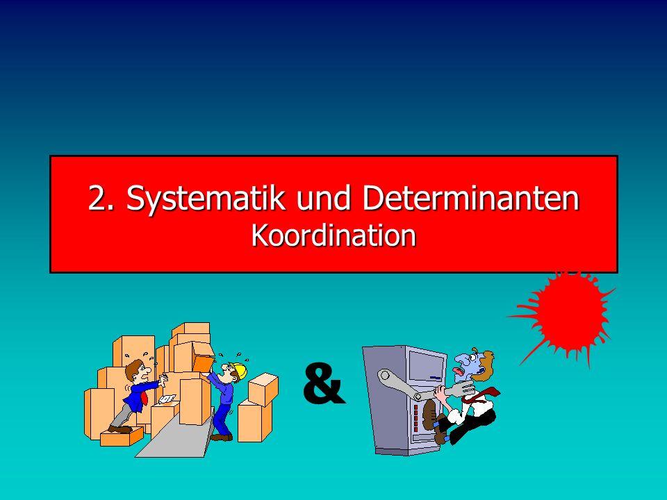 2. Systematik und Determinanten Koordination &