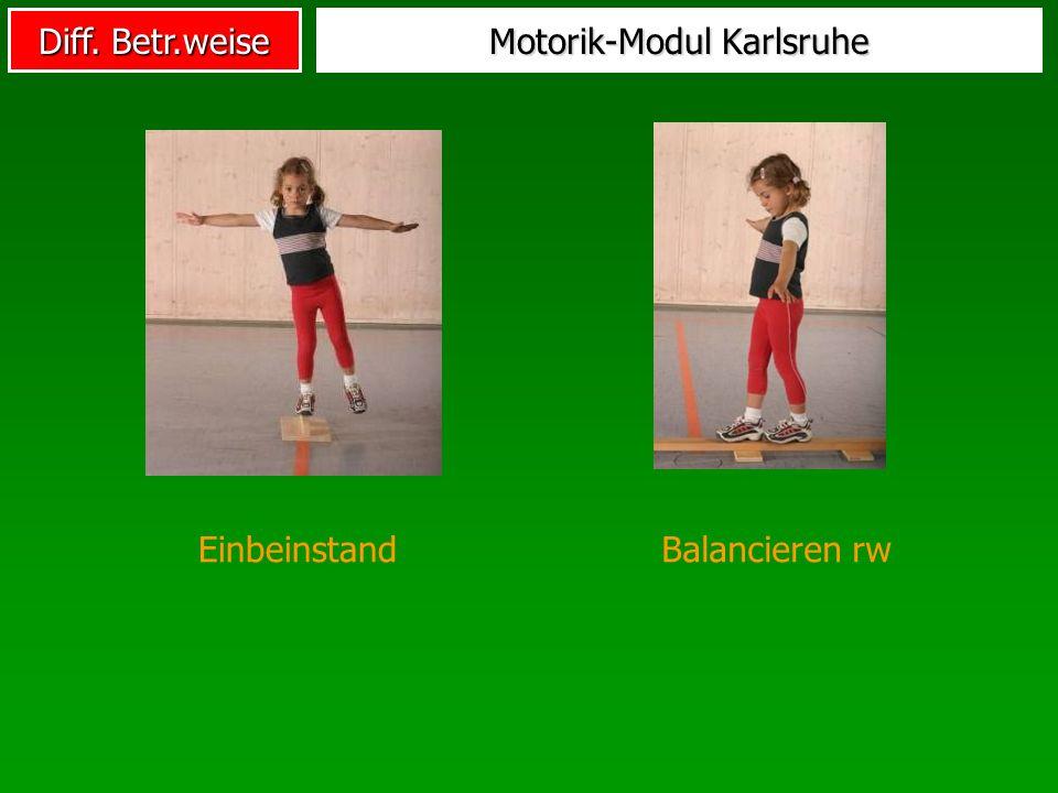 Diff. Betr.weise Motorik-Modul Karlsruhe EinbeinstandBalancieren rw