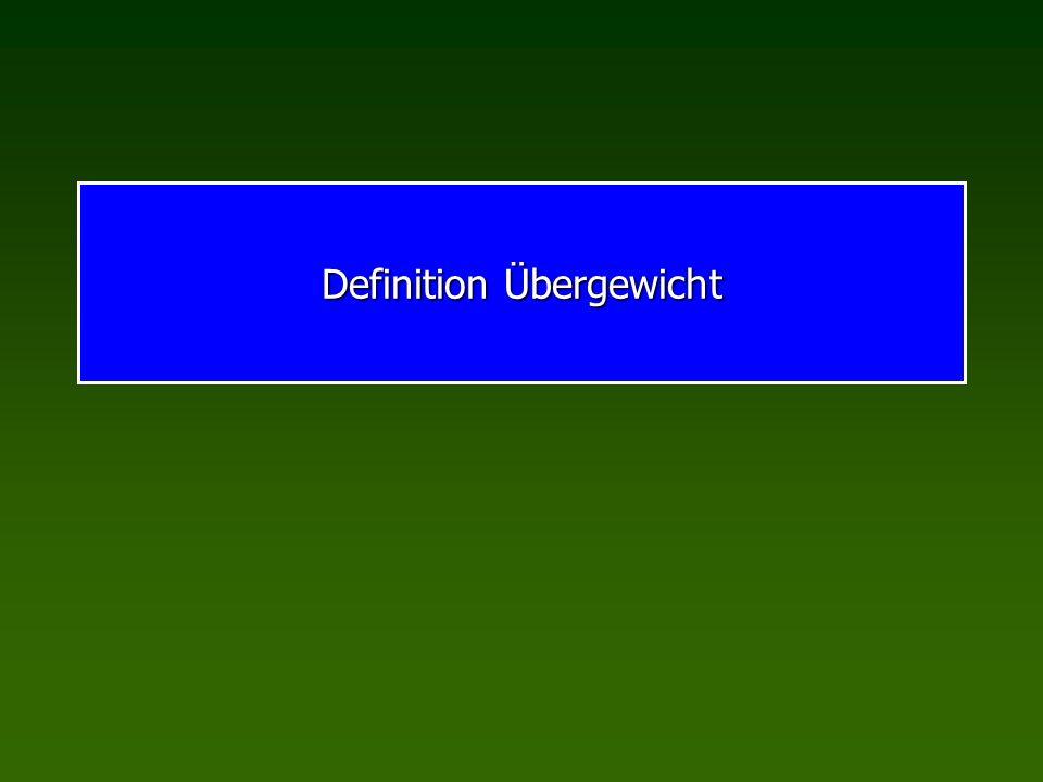 Definition Übergewicht