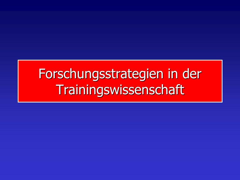 GegenstandProgramm Forschungsstrategien Grundlagenforschung Anwendungsforschung Evaluationsforschung Gegenstandsbereich Training Leistungsfähigkeit We