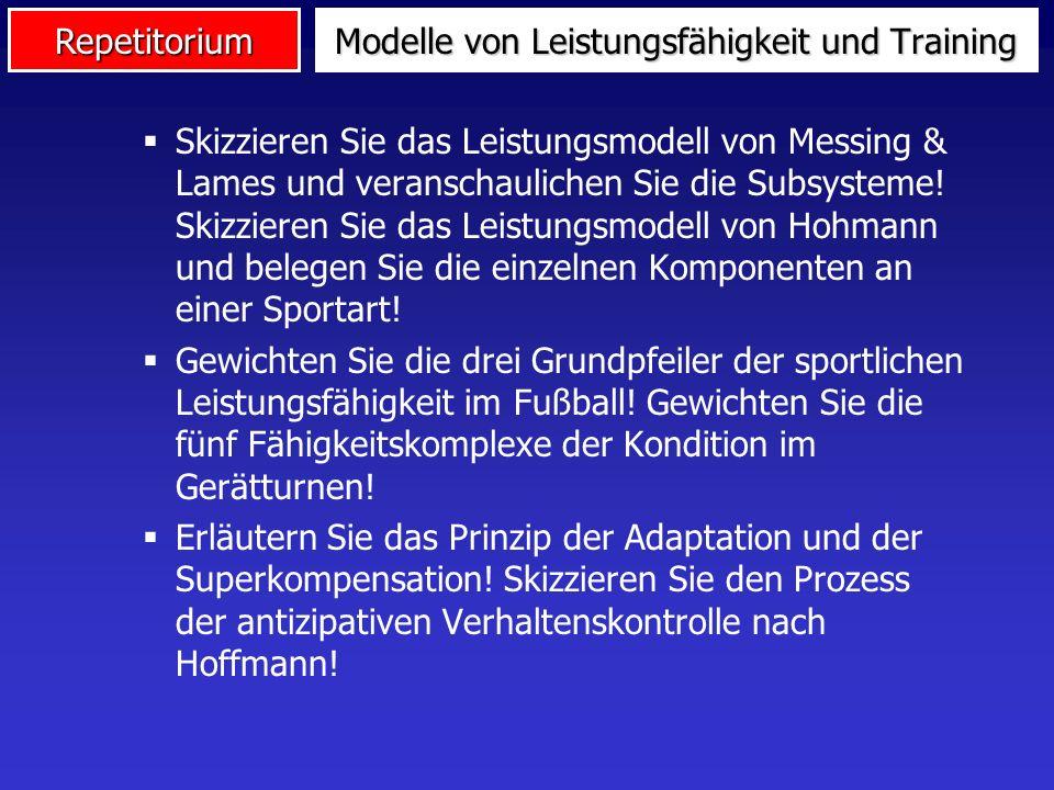 Repetitorium Skizzieren Sie das Leistungsmodell von Messing & Lames und veranschaulichen Sie die Subsysteme! Skizzieren Sie das Leistungsmodell von Ho