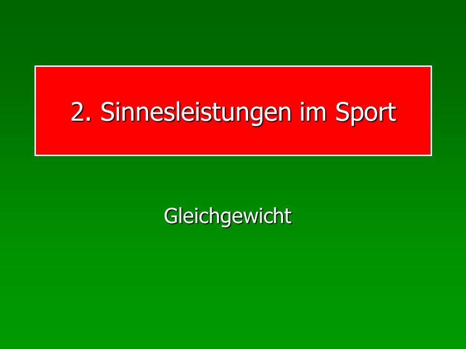 2. Sinnesleistungen im Sport Gleichgewicht