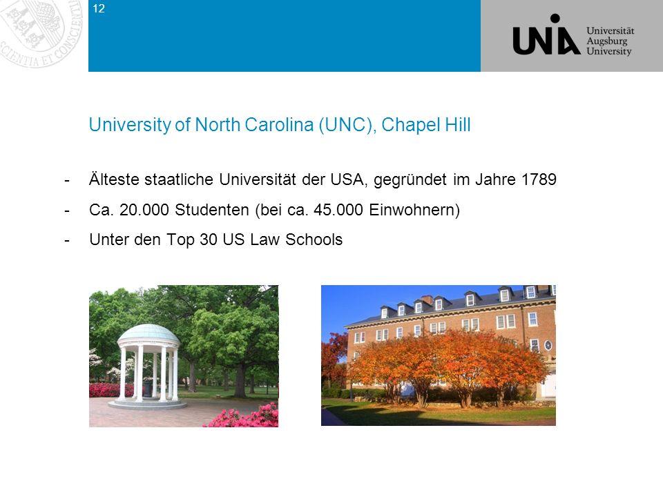 -Älteste staatliche Universität der USA, gegründet im Jahre 1789 -Ca.