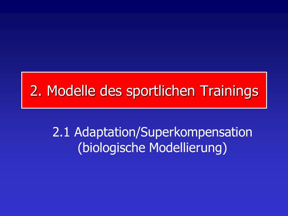 2. Modelle des sportlichen Trainings 2.1 Adaptation/Superkompensation (biologische Modellierung)