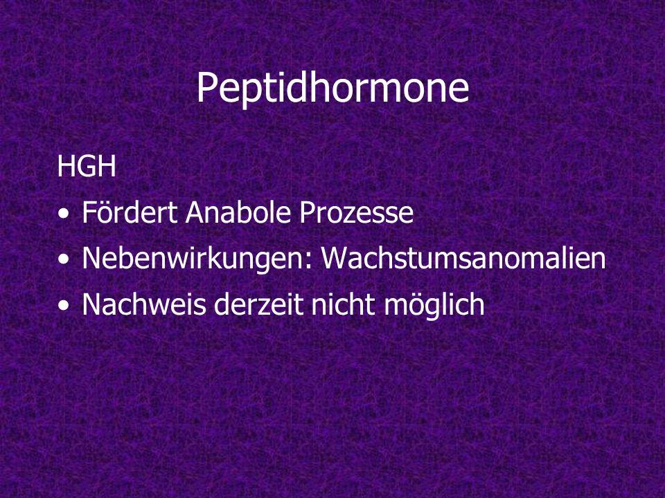 Peptidhormone HGH Fördert Anabole Prozesse Nebenwirkungen: Wachstumsanomalien Nachweis derzeit nicht möglich