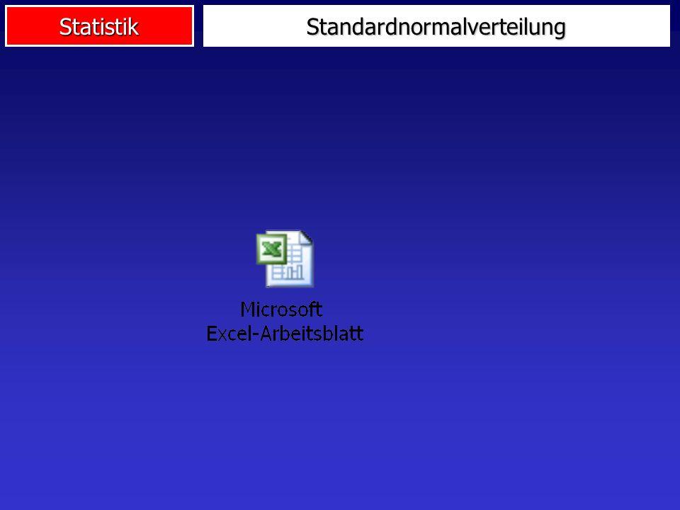 StatistikStandardnormalverteilung