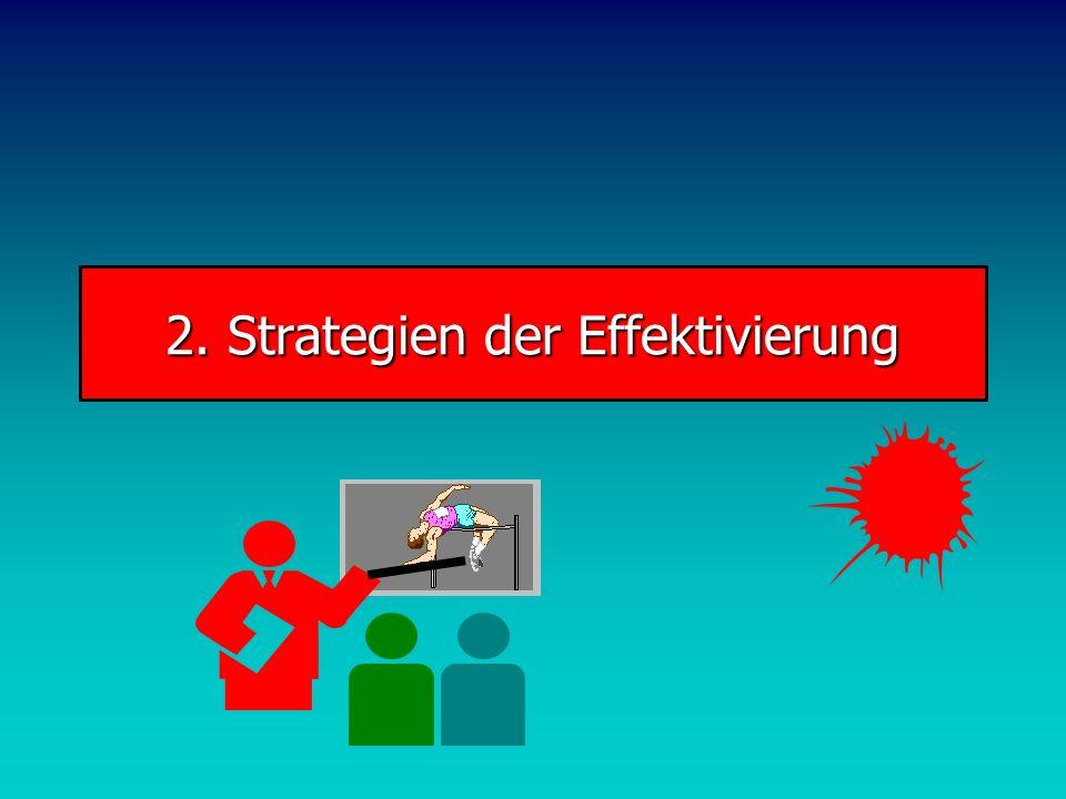 2. Strategien der Effektivierung