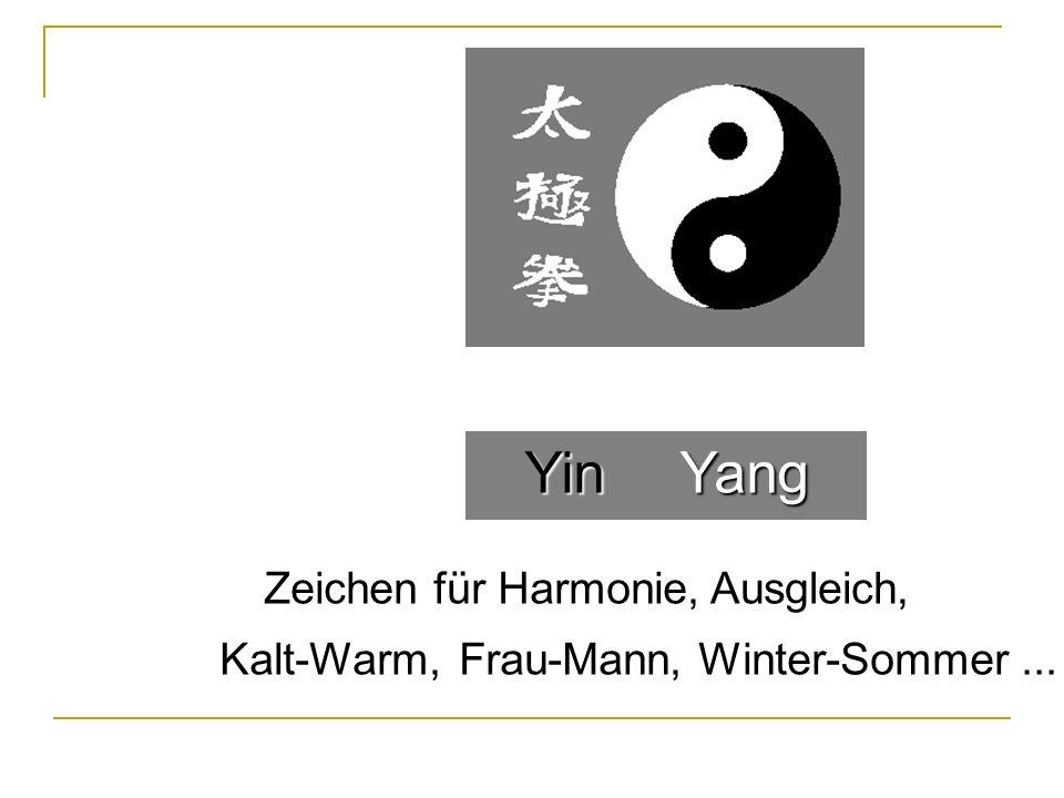 YinYang Ausgleich, Winter-Sommer...Kalt-Warm, Zeichen für Harmonie, Frau-Mann,