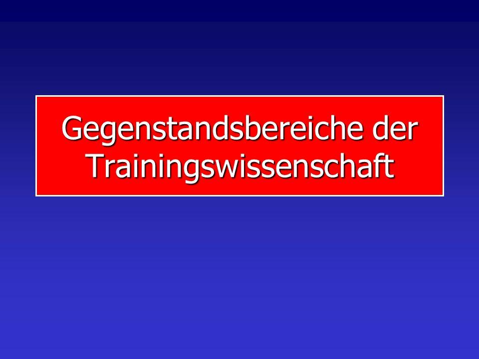 VL Trainingswissenschaft VL Trainingswissenschaft 2. Gegenstand und Forschungsstrategien der Trainingswissenschaft