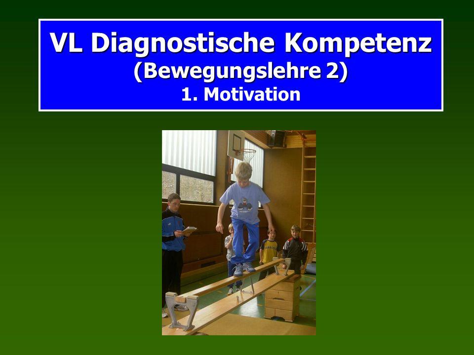 VL Diagnostische Kompetenz (Bewegungslehre 2) VL Diagnostische Kompetenz (Bewegungslehre 2) 1. Motivation