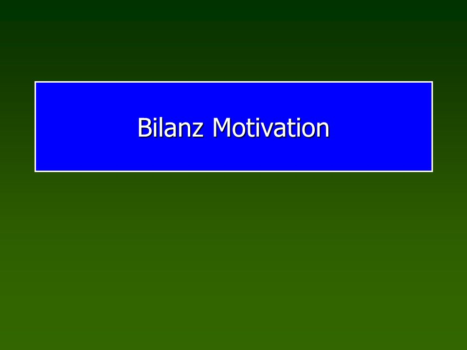 Bilanz Motivation