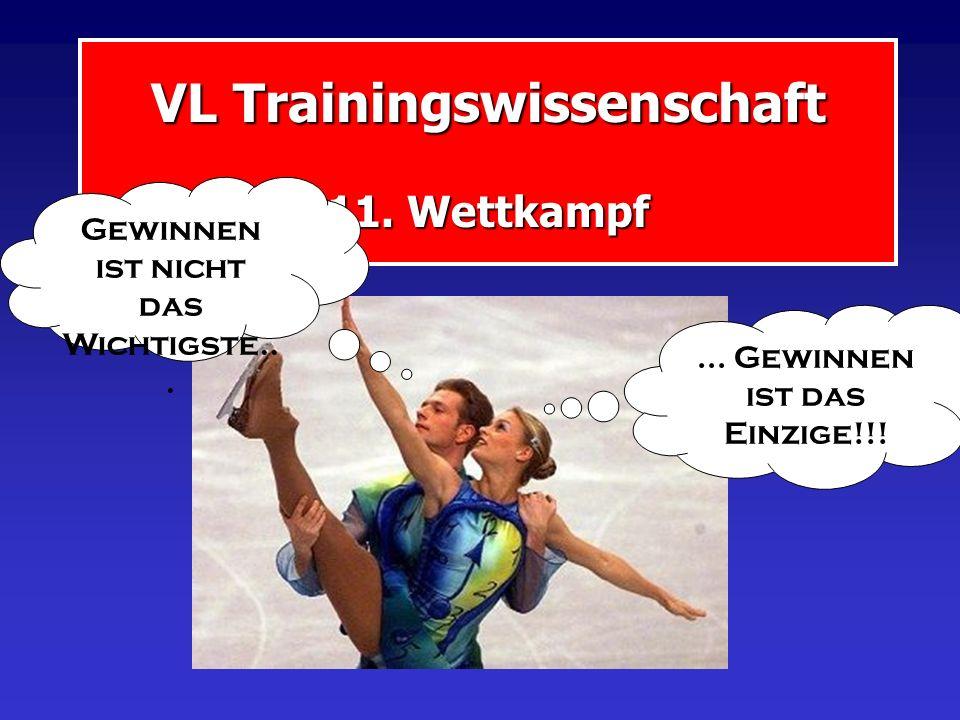 VL Trainingswissenschaft 11.Wettkampf... Gewinnen ist das Einzige!!.