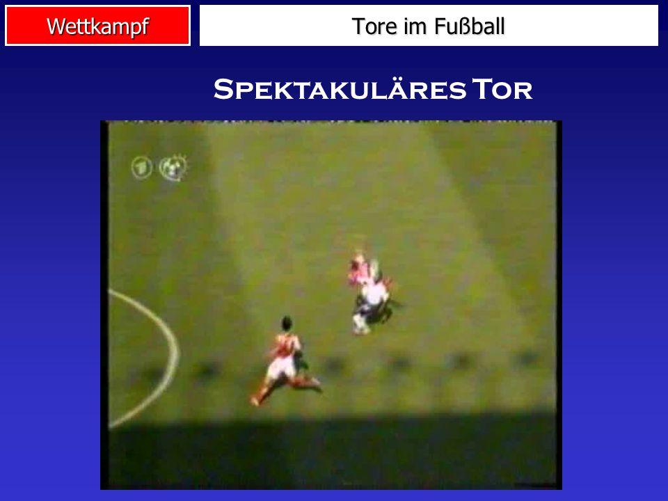 Wettkampf Tore im Fußball Unabsichtliches Tor