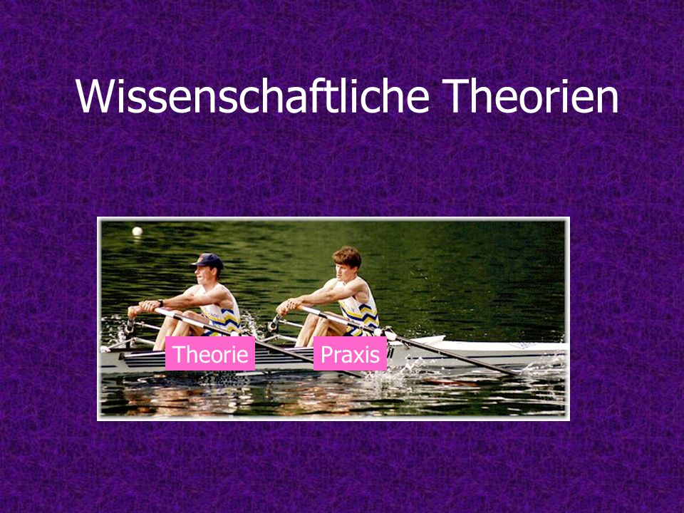 Wissenschaftliche Theorien TheoriePraxis