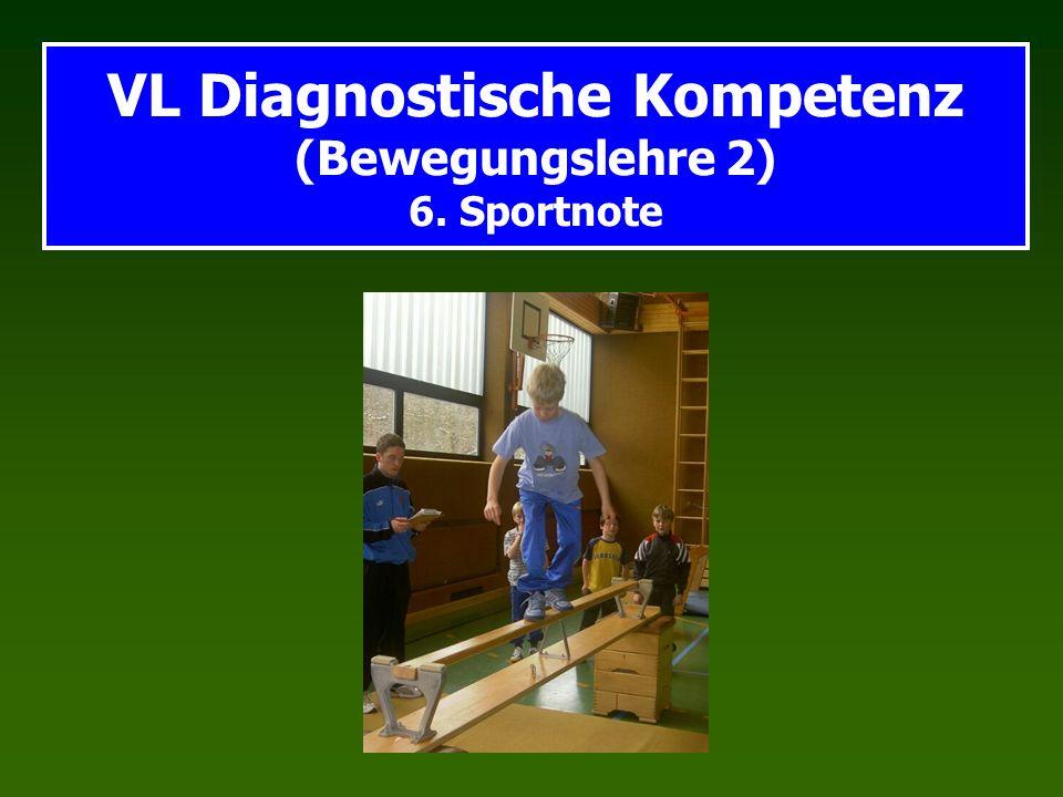 VL Diagnostische Kompetenz (Bewegungslehre 2) 6. Sportnote