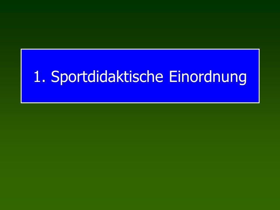 1. Sportdidaktische Einordnung