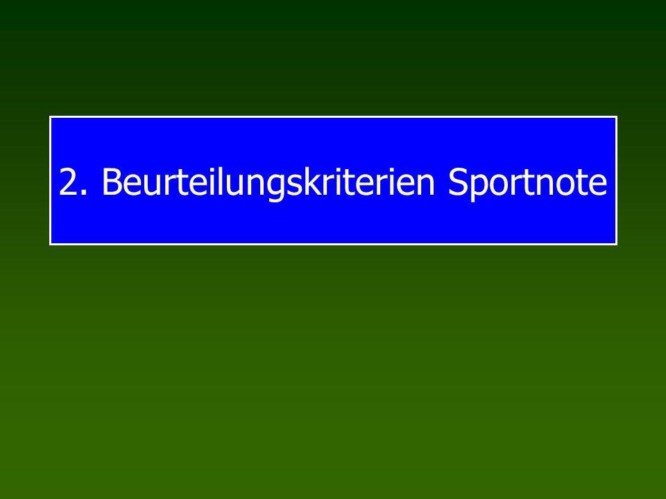 2. Beurteilungskriterien Sportnote
