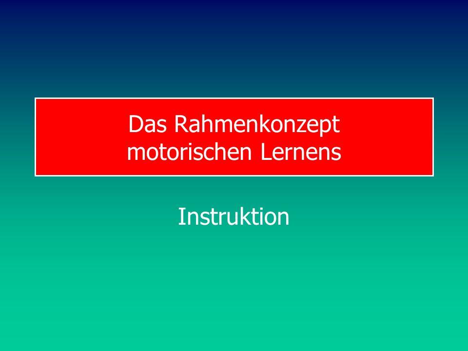 Das Rahmenkonzept motorischen Lernens Instruktion