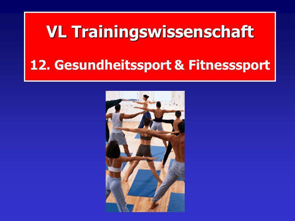 VL Trainingswissenschaft VL Trainingswissenschaft 12. Gesundheitssport & Fitnesssport