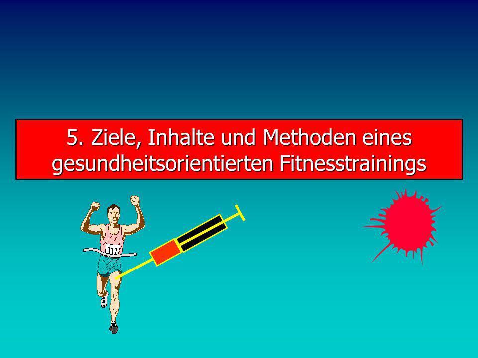 5. Ziele, Inhalte und Methoden eines gesundheitsorientierten Fitnesstrainings