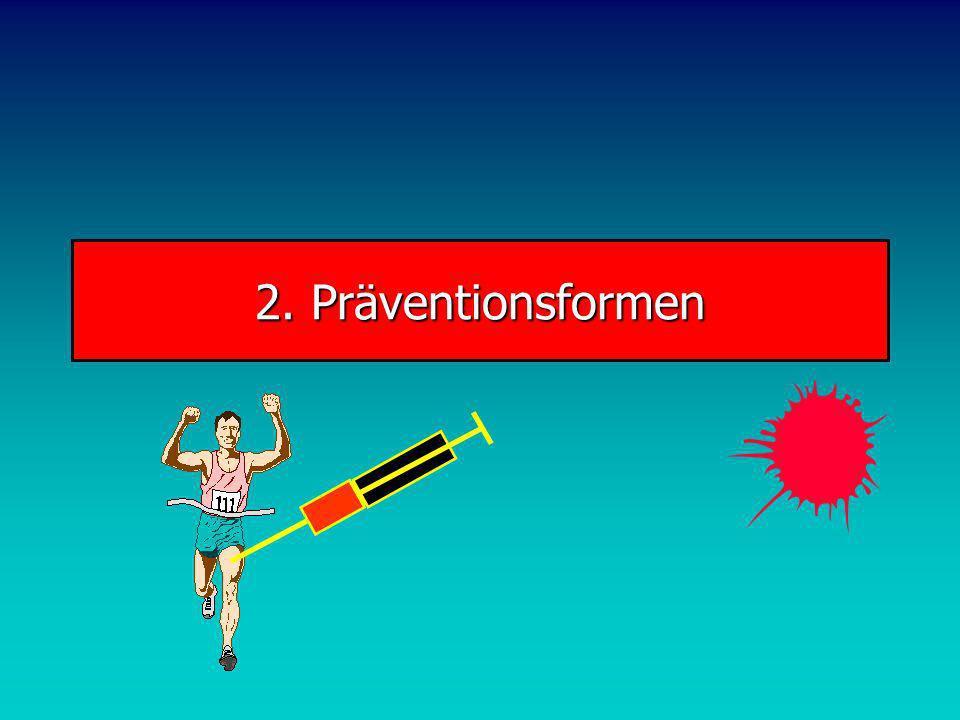 Gesundheitssport Präventive Wirkungen Aufwärmen zur Vorbereitung auf Sporttreiben Muskuläre Dysbalancen Folge von intensivem Sporttreiben Kräftige die geschwächte und dehne die verkürzte Muskulatur Beispiel: Schulter bei Rückschlagspielern Tonusregulation Hoher Tonus, Folge von Stress oder Krafttraining: relaxierende Beweglichkeitsübungen Niedriger Tonus, Folge von Bewegungsmangel: dynamische Beweglichkeitsübungen